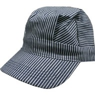 DLS - DayLight Sales Blue/White Striped Hats (Engineer Cap) Adults