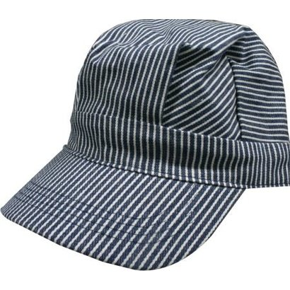 DLS - DayLight Sales 00058 Blue/White Striped Hats (Engineer Cap) Adults