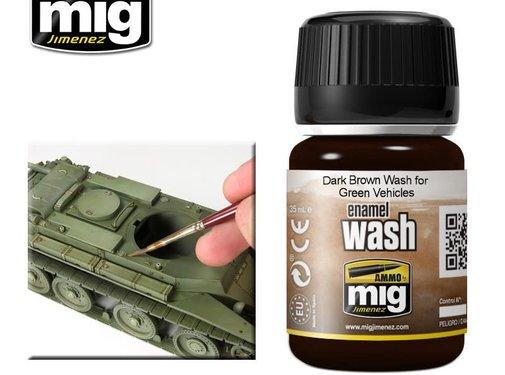 AMMO by Mig Jimenez (AMM) DARK BROWN WASH FOR GREEN VEHICLES