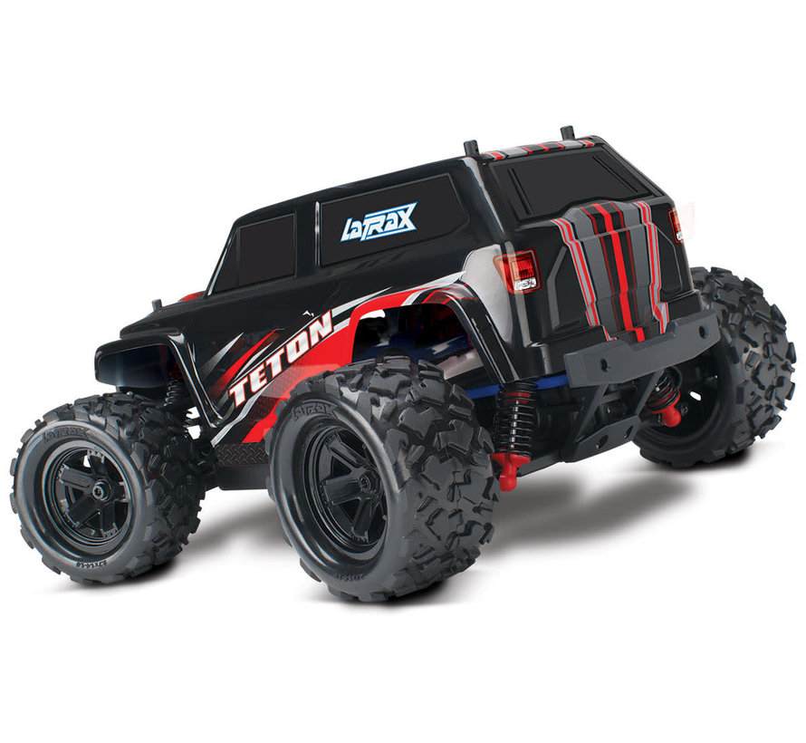 76054-5_RED - LaTrax Teton: 1/18 Scale 4WD Electric Monster Truck
