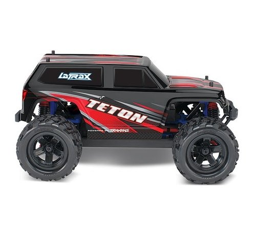 Traxxas (TRA) 76054-5_RED - LaTrax Teton: 1/18 Scale 4WD Electric Monster Truck