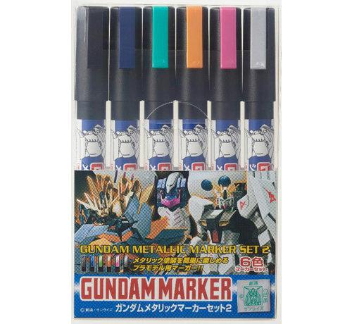 Mr. Hobby GSI - GNZ GMS125 Gundam Metallic Marker Set 2 GSI