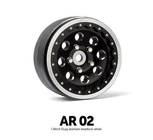 70364 AR02 1.9 Inch 5 Lug Aluminum beadlock wheels (2)