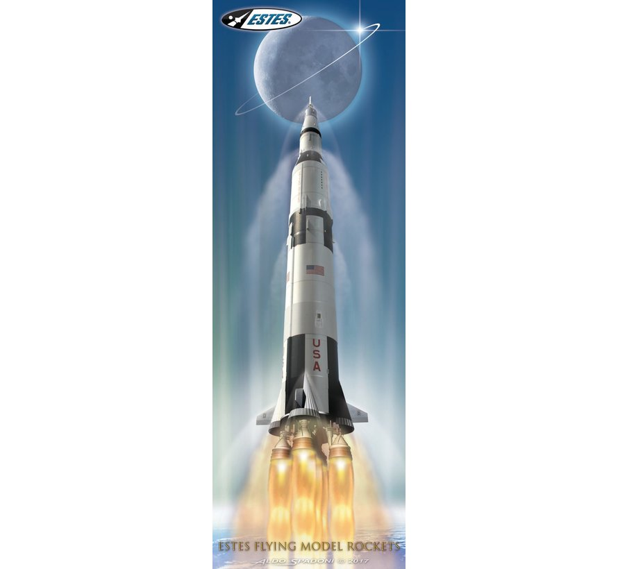 2160 Saturn V 1:200 Scale ARF with stand