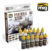 AMMO by Mig Jimenez (AMM) PANTHER-G Colors Set for Interior and Exterior Set