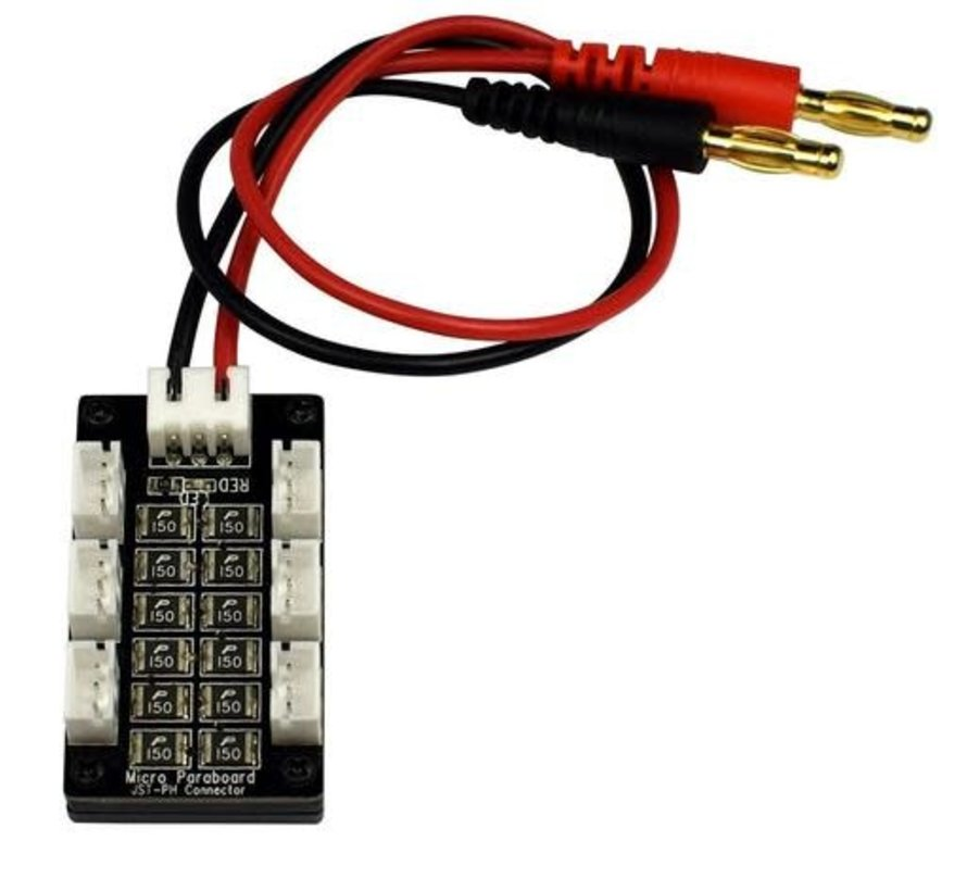1461 Battery 6 Parallel Charging Board for Blade 130 X, MCPX BL, Parkzone, & Eflite UMX