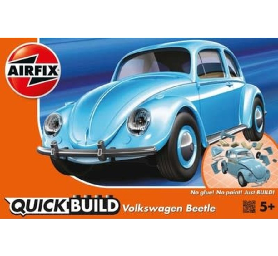 J6015 Airfix QUICK BUILD Light Blue Volkswagen VW Beetle Plastic Model Kit