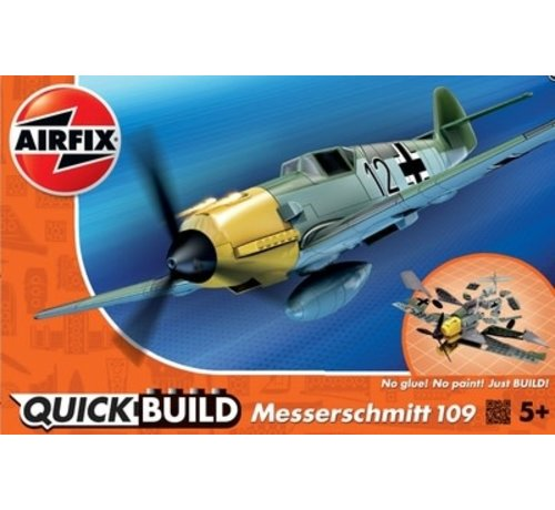Airfix (ARX) J6001 Airfix QUICK BUILD Messerschmitt Bf109e Plastic Model Kit