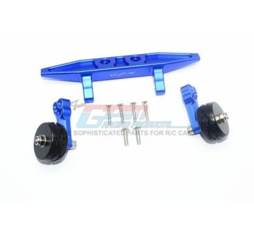 GPM Racing (GPM) RUS4040R-B GPM Racing Traxxas Rustler 4X4 Blue Aluminum Adjustable Wheelie Bar