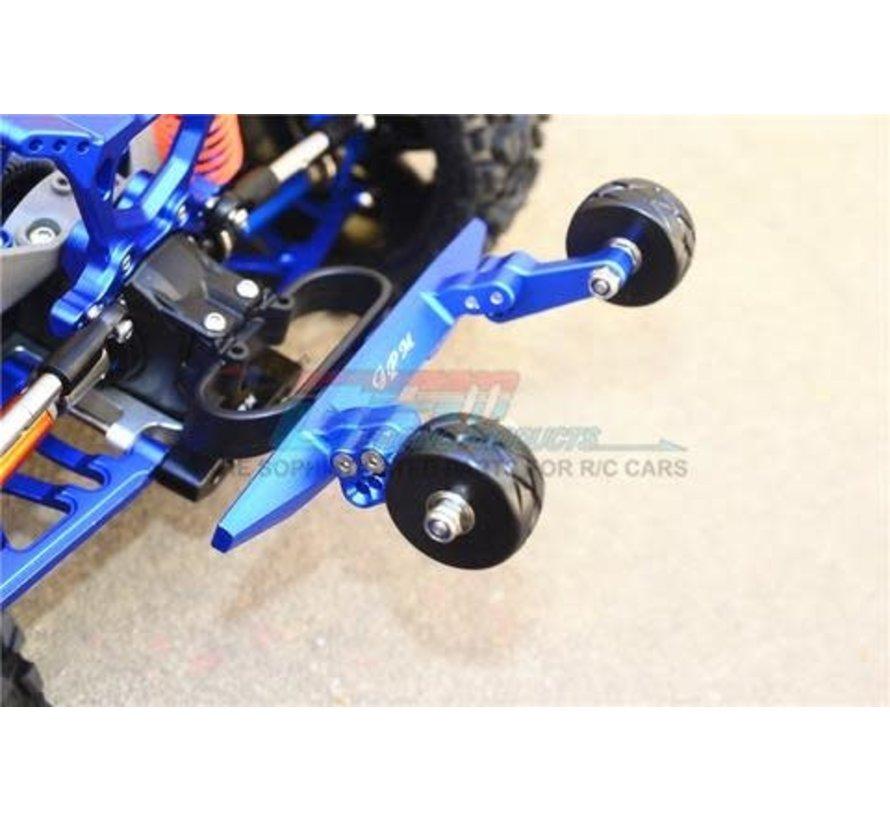 RUS4040R-B GPM Racing Traxxas Rustler 4X4 Blue Aluminum Adjustable Wheelie Bar