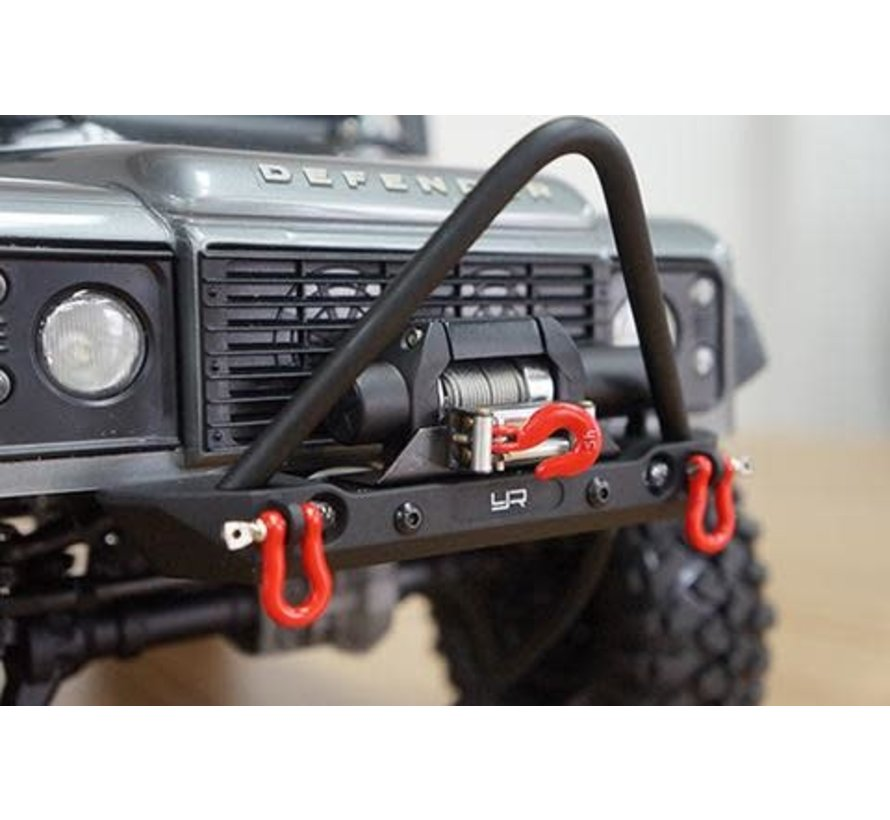 0548  Yeah Racing Axial SCX10 / Traxxas TRX-4 Alloy Front Bumper W/ LED Lights