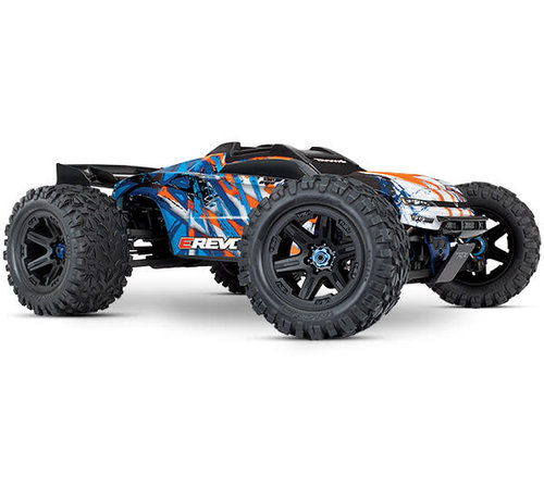 Traxxas (TRA) 86086-4 - E-Revo ORANGE  VXL Brushless: 1/10 Scale 4WD Brushless Electric Monster Truck with TQi 2.4GHz Traxxas Link Enabled Radio System and Traxxas Stability Management (TSM)