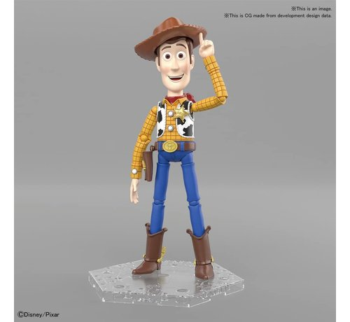 "BANDAI MODEL KITS 5057699 Woody ""Toy Story"", Bandai Cinema-Rise Standard Plastic model kit"