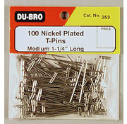 Dubro (DUB) T-Pins Nickel Plated 1-1/4
