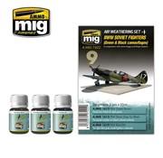 AMMO by Mig Jimenez (AMM) WW II SOVIET AIRPLANES (Green & Black camouflages)