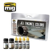 AMMO by Mig Jimenez (AMM) JET ENGINES COLORS AND WEATHERING SET