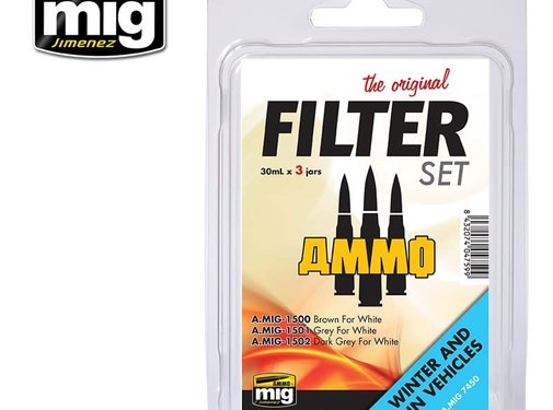 AMMO by Mig Jimenez (AMM) FILTER SET FOR WINTER AND UN VEHICLES