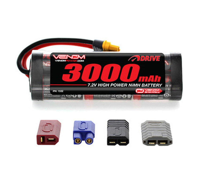 1532 DRIVE 7.2V 3000mAh NiMH 6 cell Battery Pack : UNI 2.0 Plug