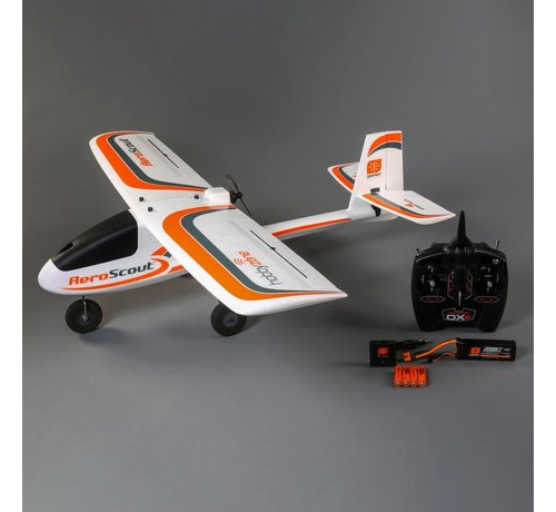 HBZ - HobbyZone 3800 AeroScout S 1.1m RTF RC Trainer / beginner airplane