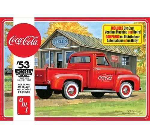 AMT Models (AMT) 1144M Ford 1953 f-150 Pickup, Coca Cola 2T 1:25 plastic model kit