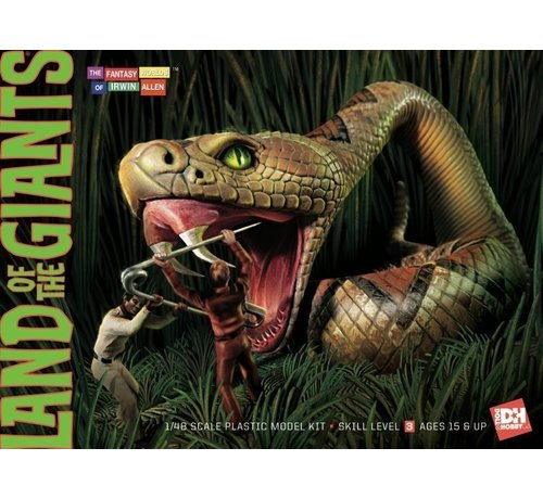 Doll & Hobby Models (DNH) 1816 Land of the Giants Snake Scene 1:48 Skill Level 3