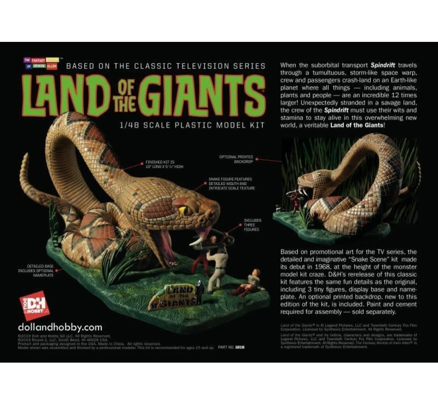 1816 Land of the Giants Snake Scene 1:48 Skill Level 3