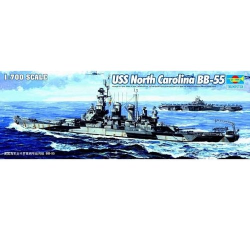 Trumpeter Models (TSM) 05734 USS N Carolina BB-55 1/700