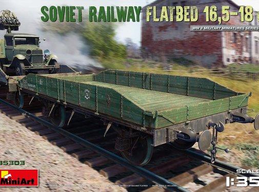 MNA - MINIART MODELS SOVIET RAILWAY FLATBED 16,5-18t 1:35