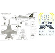 MSI-Microscale Industries 460- Boeing F/A-18E Super Hornet (1) 165780/100 VX-9 Vampires `Go Navy Beat Army' below wing 1:48 decals