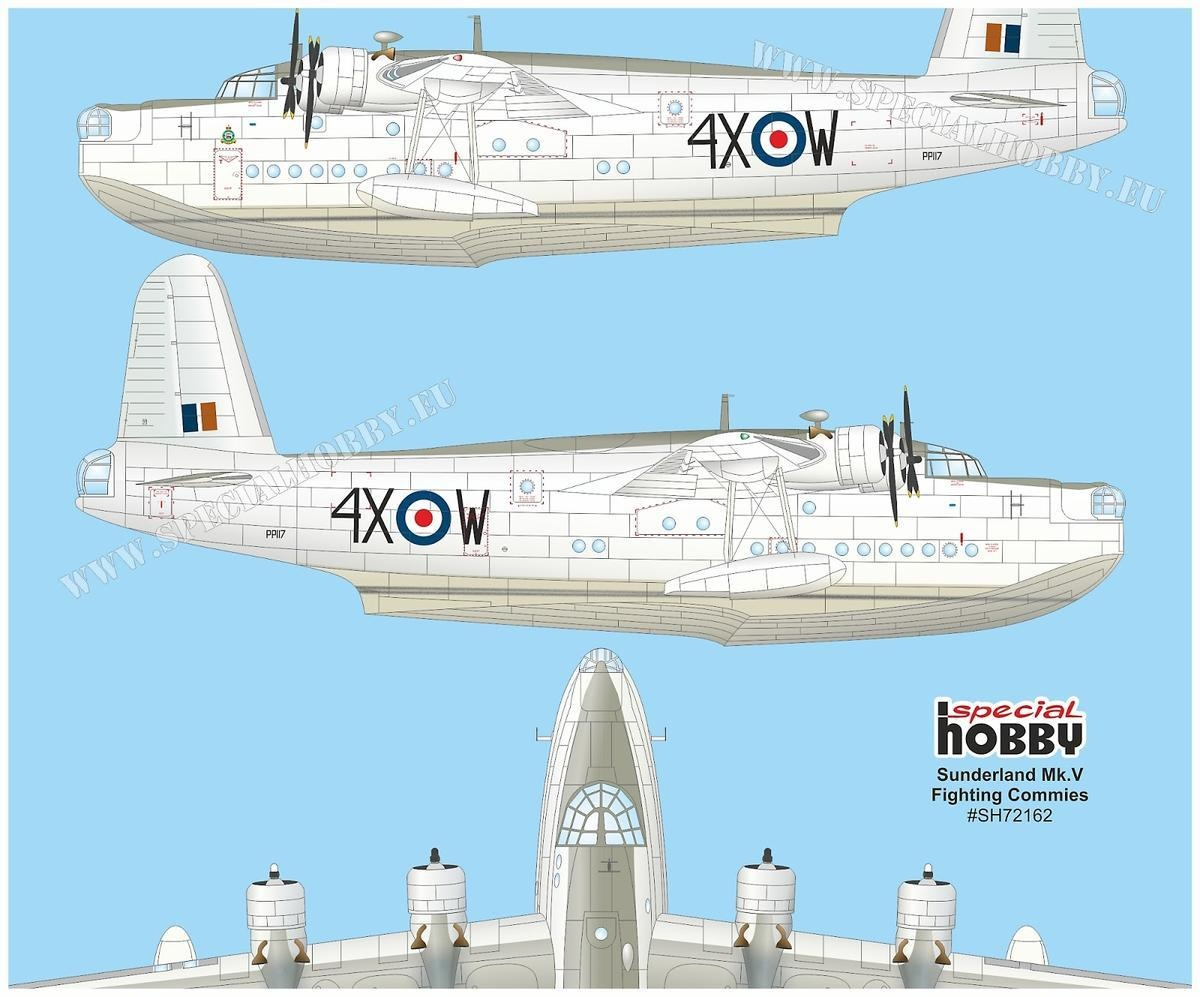 Sunderland Flying Boat Bomber Tie by D L Sells