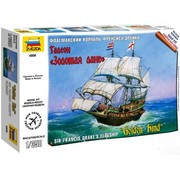 Zvezda (ZVE) Engligh Galleon Golden Hind 1:350 model kit