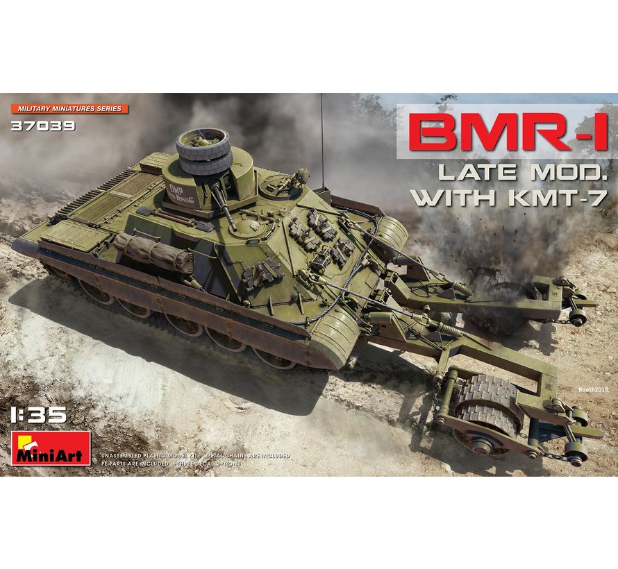 37039 Soviet BMR-1 LATE MOD. WITH KMT-7 1:35