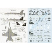 MSI-Microscale Industries 460- Boeing F/A-18E Super Hornets1:48 decals