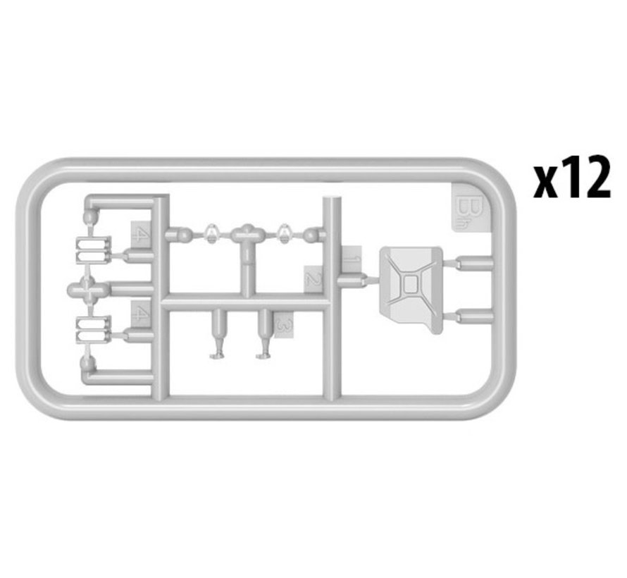 3558 KIT CONTAINS 24 JERRY CANS 2 ASSEMBLING OPTIONS OF JERRY CAN LIDS 4 TYPES OF GERMAN 20L JERRY CANS PHOTO-ETCHED PARTS INCLUDED DECALS SHEET INCLUDED 1:358 GERMAN JERRY CANS SET WWII KIT CONTAINS 24 JERRY CANS 2 ASSEMBLING OPTIONS OF JERRY CAN LIDS 4