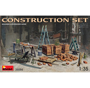 MNA - MINIART MODELS CONSTRUCTION SET Kit contains models of: ladders, table, buckets, bricks, cart, anvil, beams, jack stand and tools 1:35