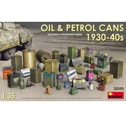 MiniArt Models (MNA) Oil and petrol cans from the 1930-40s. 1/35