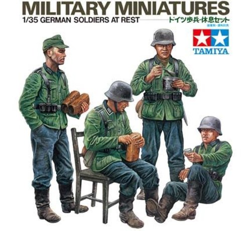 Tamiya (TAM) 865- 35129 1/35 German Soldiers At Rest Kit