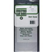 Evergreen (EVG) 269- 9007 Clear Sheet .015 x 6 x 12 (2)