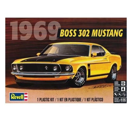 RMX- Revell 854313 - 1969 Boss 302 Mustang 1:25