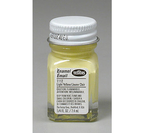 Testors (TES) 704- 1112TT Enamel 1/4oz Light Yellow
