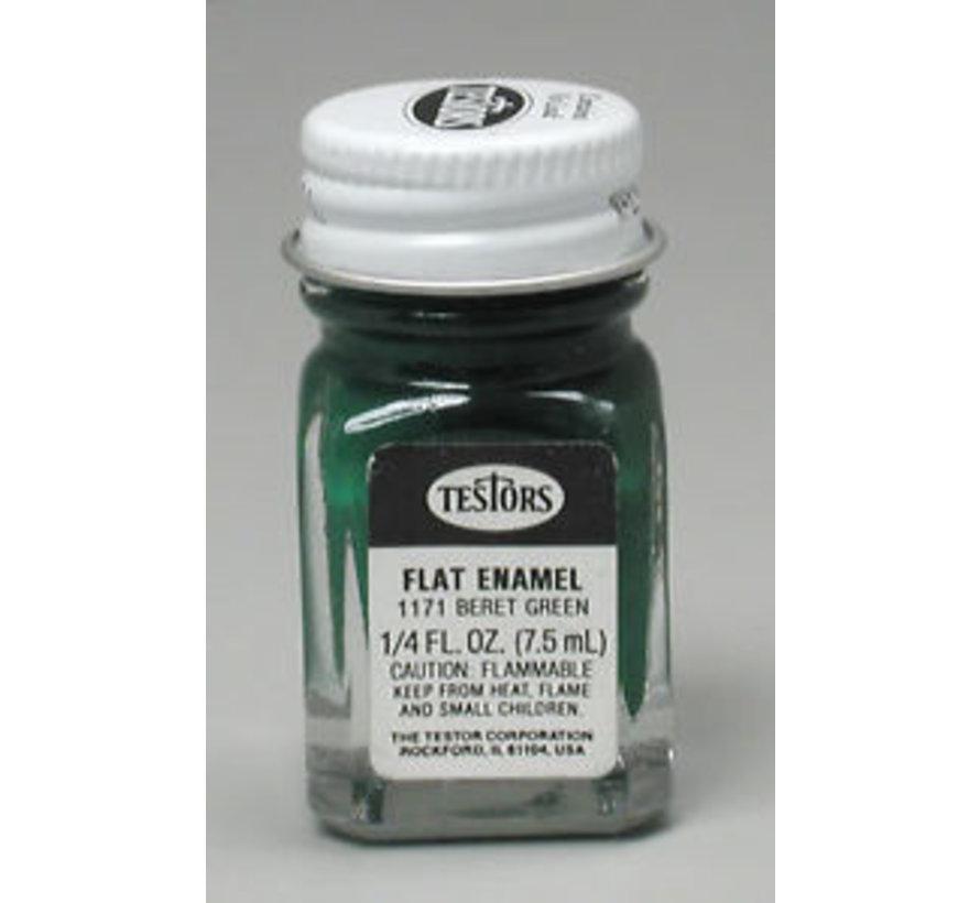 1171TT  Enamel 1/4oz Flat Beret Green