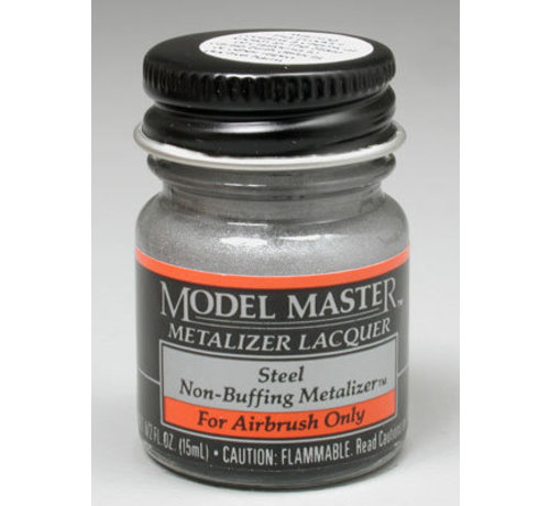 Testors (TES) 704- (D)  1420 Non-Buffing Metalizer Steel