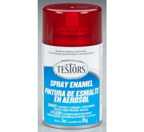Testors (TES) 704- 1605T Spray 3oz Candy Apple Red