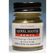 Testors (TES) 704- 4672 Model Master Acryl Gloss 1/2oz Brass