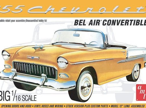 AMT Models (AMT) Chevy 1955 Bel Air Convertible 1/16