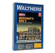 """Walthers Cornerstone (WALC) 933- 4041 Merchant's Row V -- Kit - 10-1/2 x 6-7/8 x 5-5/16""""  26.6 x 17.4 x 13.4cm"""