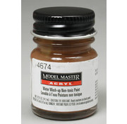 Testors (TES) 704- Model Master Acryl Flat 1/2oz Leather