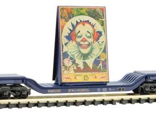 Micro-Trains Line (MTL) 489- Heavyweight 6-Axle Depressed-Center Flatcar Ringling Bros.