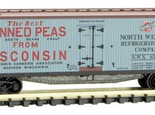 Micro-Trains Line (MTL) 489- Double-Sheathed Wood Reefer Wisconsin