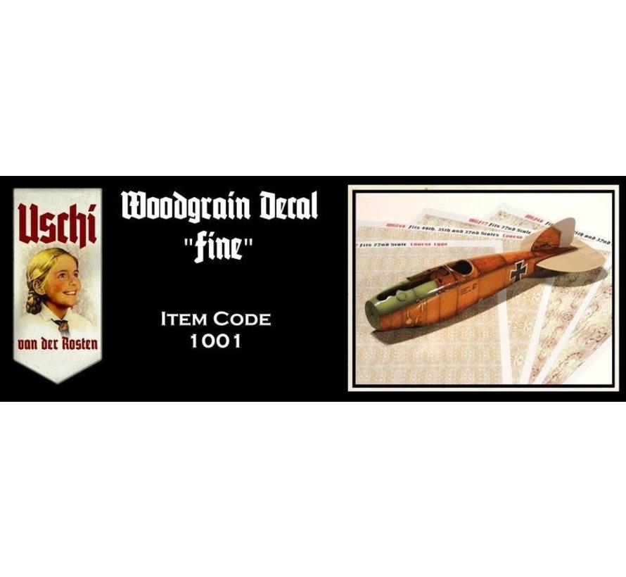1001 Fine Woodgrain small 1:72 Decal